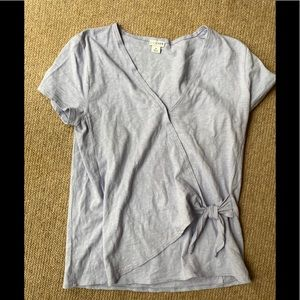J Crew Wrap Cotton T Shirt (avail in green + grey)